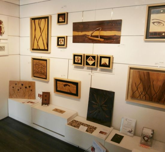 A corner of Susan's marquetry display