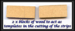 Basket weave example 4 wood blocks
